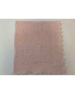 Strickdecke rosa PEHURCHALE